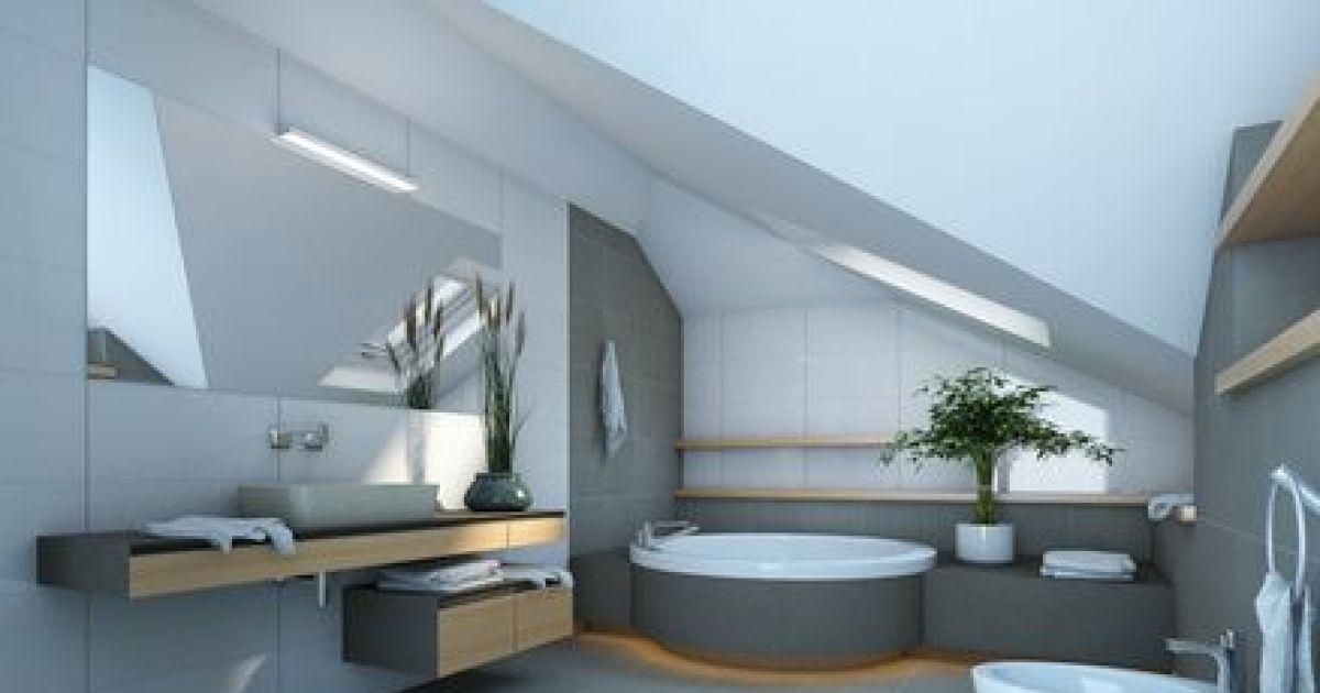 Am nager une salle de bains sous les combles for Chambre avec salle de bain ouverte