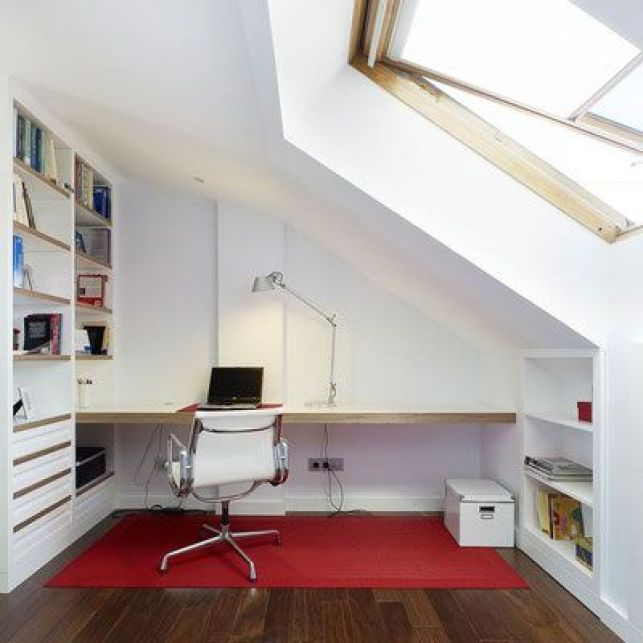 Un bureau optimisé sous les combles