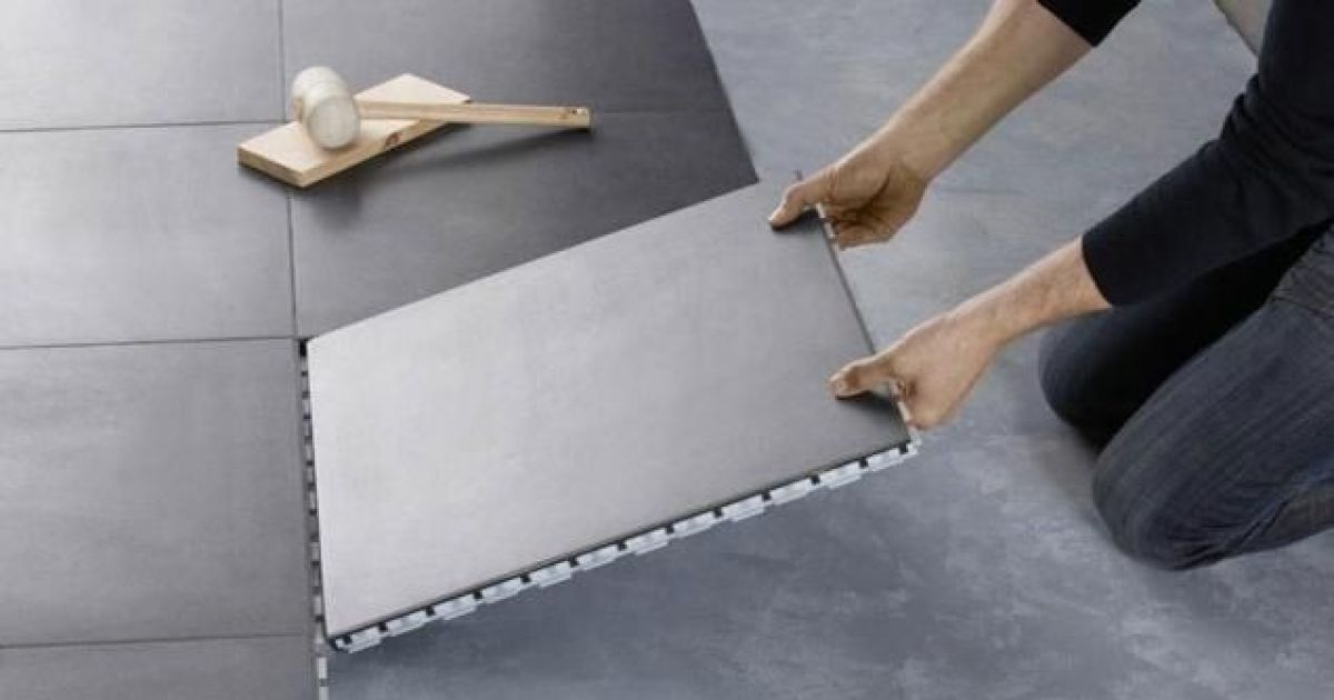 Le carrelage clipsable une pose facile et de nombreux for Machine a joint de carrelage