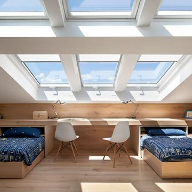 Une chambre d'ado lumineuse sous les combles
