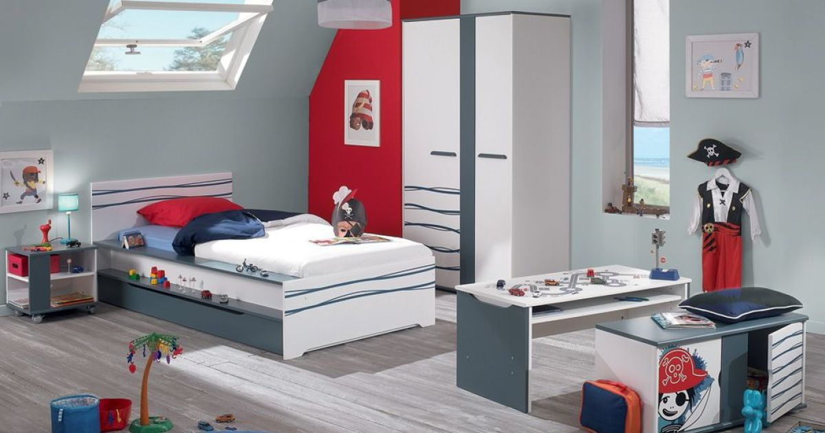 chambre enfant jack par conforama. Black Bedroom Furniture Sets. Home Design Ideas