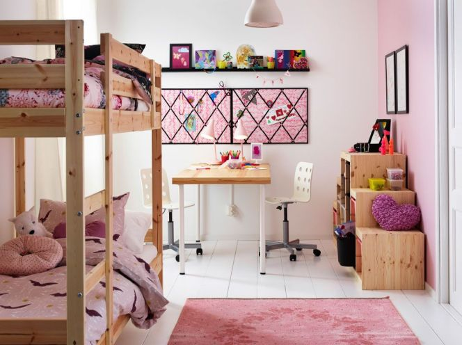 id es d co pour une chambre de fille chambre pour 2 enfants par ikea. Black Bedroom Furniture Sets. Home Design Ideas