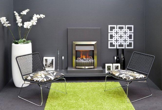 Cette ravissante petite cheminée apportera un aspect chaleureux à votre pièce.© Faber