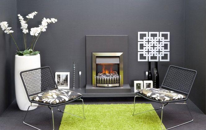 Cette ravissante petite cheminée apportera un aspect chaleureux à votre pièce. © Faber