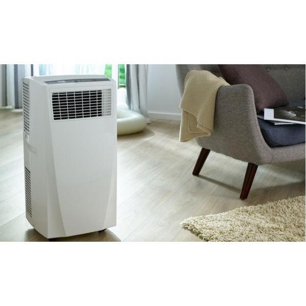 le climatiseur mobile roulettes qui se d place. Black Bedroom Furniture Sets. Home Design Ideas