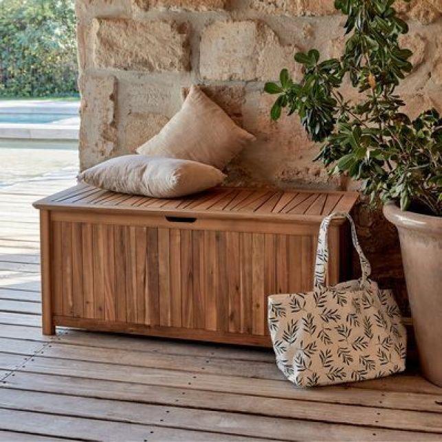 Banc en bois avec rangement CARLO