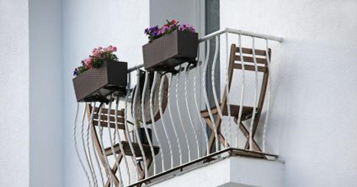 Decoration Balcon Long Et Etroit. Balcon. Un Balcon Fleuri Comme On