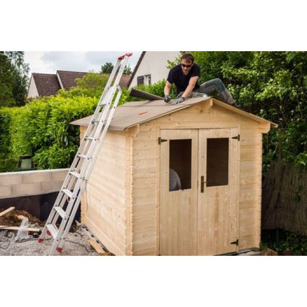 Construction d 39 un abri de jardin tapes et prix - Fabrication d un abri de jardin en bois ...