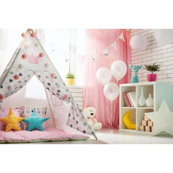 cr er un tipi dans une chambre d enfant. Black Bedroom Furniture Sets. Home Design Ideas