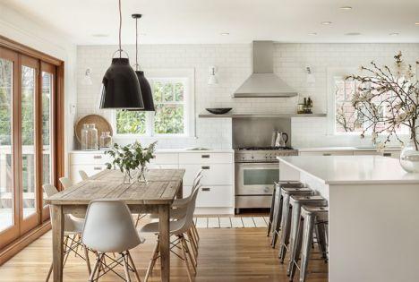 Une cuisine familiale, ouverte et lumineuse