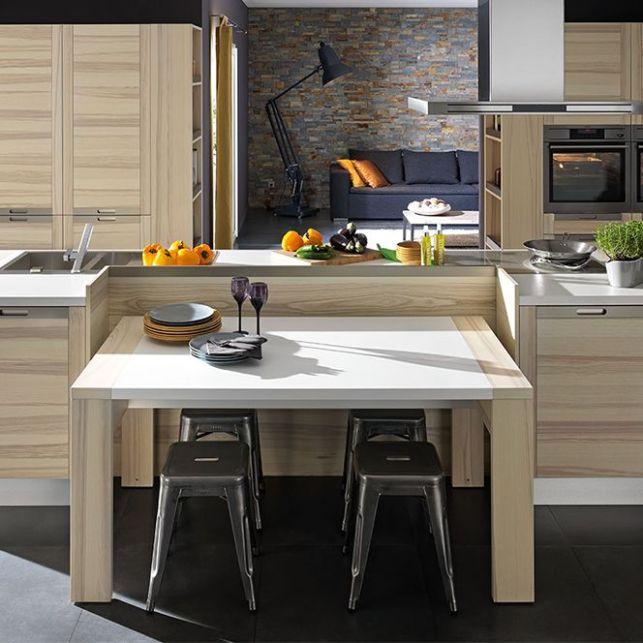 Une cuisine contemporaine en bois