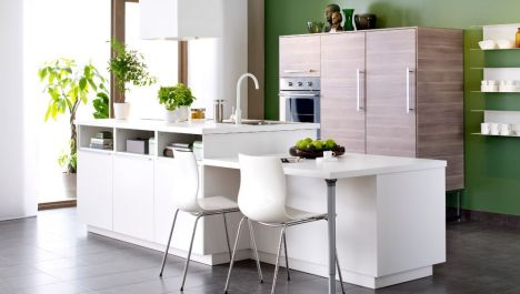 """Cuisine avec îlot par Ikea<span class=""""normal italic"""">© Ikea</span>"""