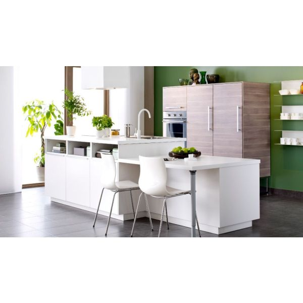 Cuisine avec lot par ikea for Ikea ilot central