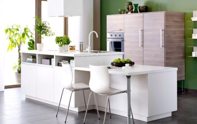 Cuisine avec îlot par Ikea © Ikea