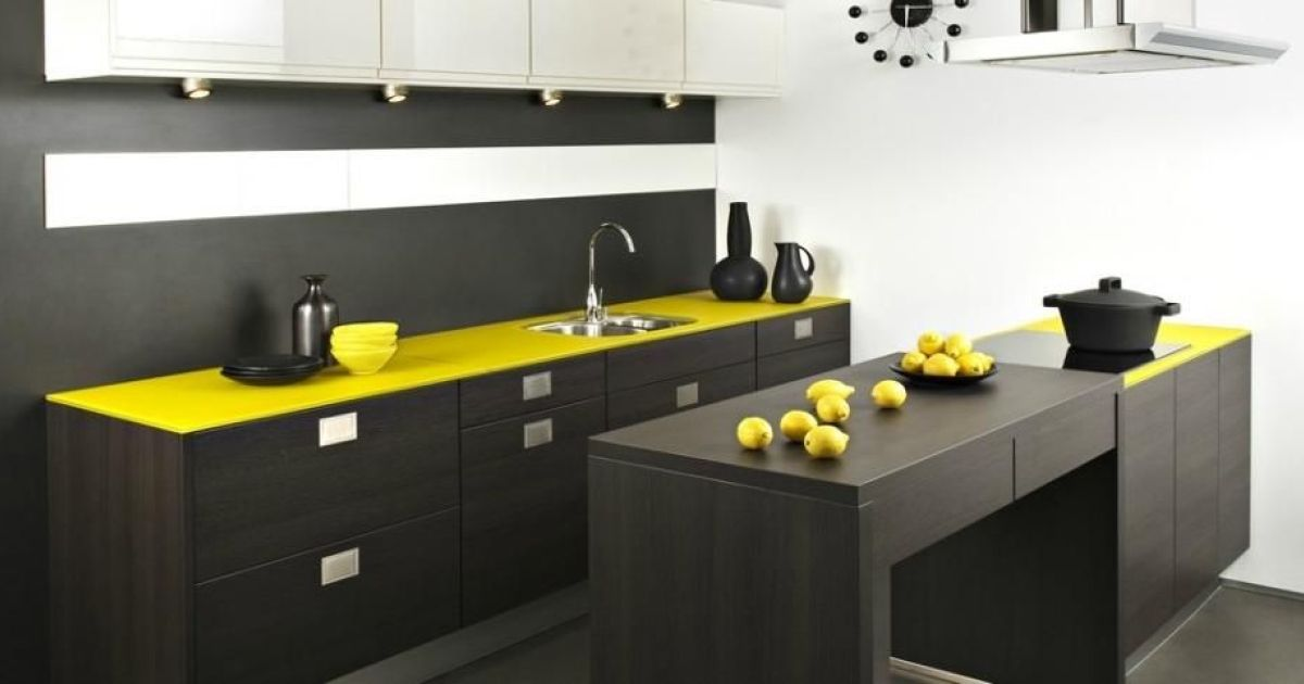 plan de travail de cuisine en verre avanatages et inconv nients de la mati re. Black Bedroom Furniture Sets. Home Design Ideas