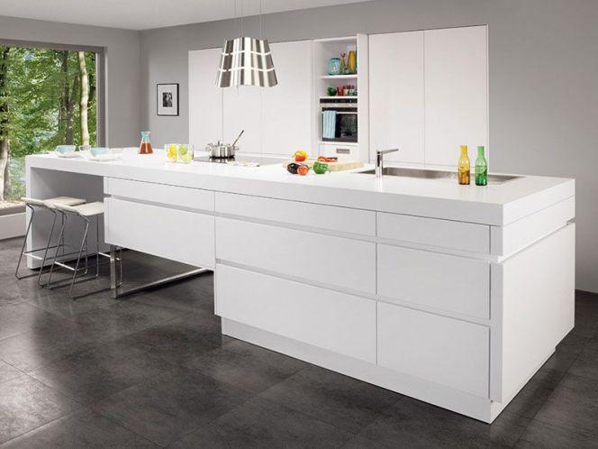 En photos les plus belles cuisines blanches cuisine for Cuisine blanche laque