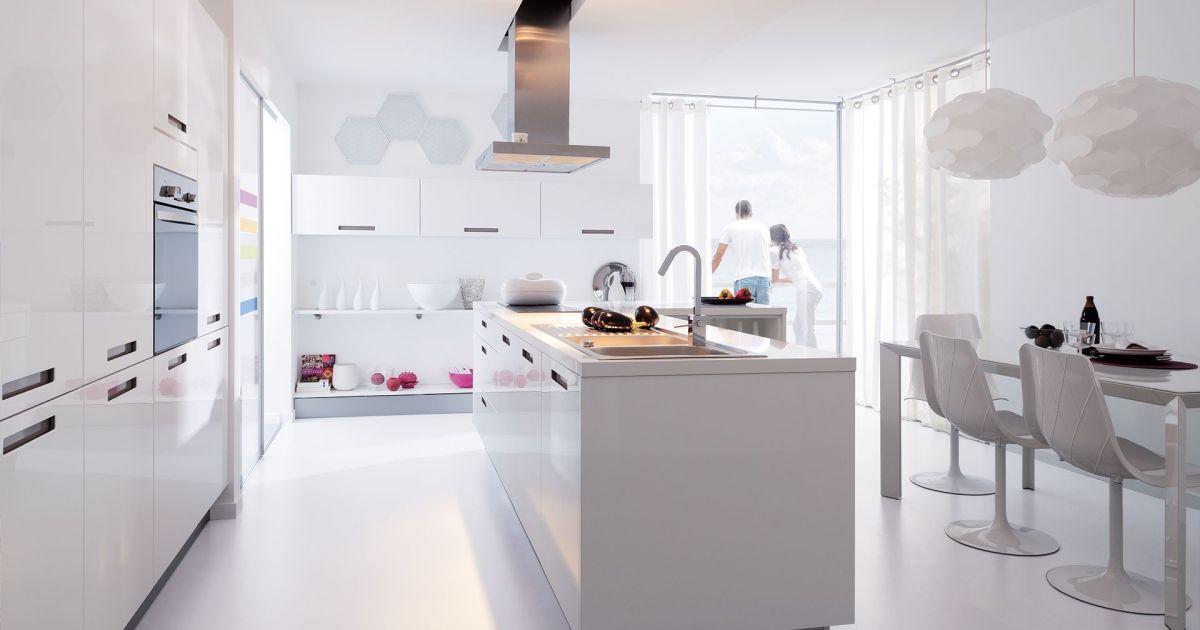 En photos les plus belles cuisines blanches la cuisine - Image cuisine blanche ...