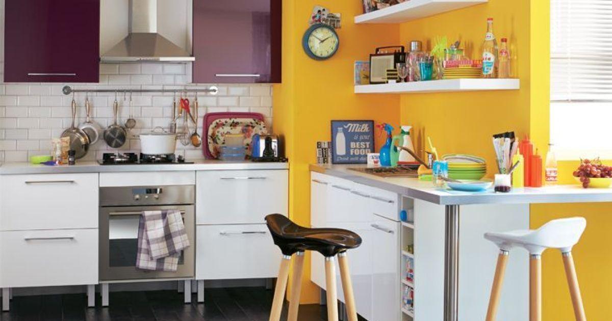 cuisine color e par alin a. Black Bedroom Furniture Sets. Home Design Ideas