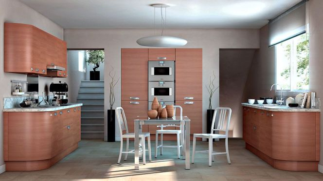 belle cuisine bois. Black Bedroom Furniture Sets. Home Design Ideas