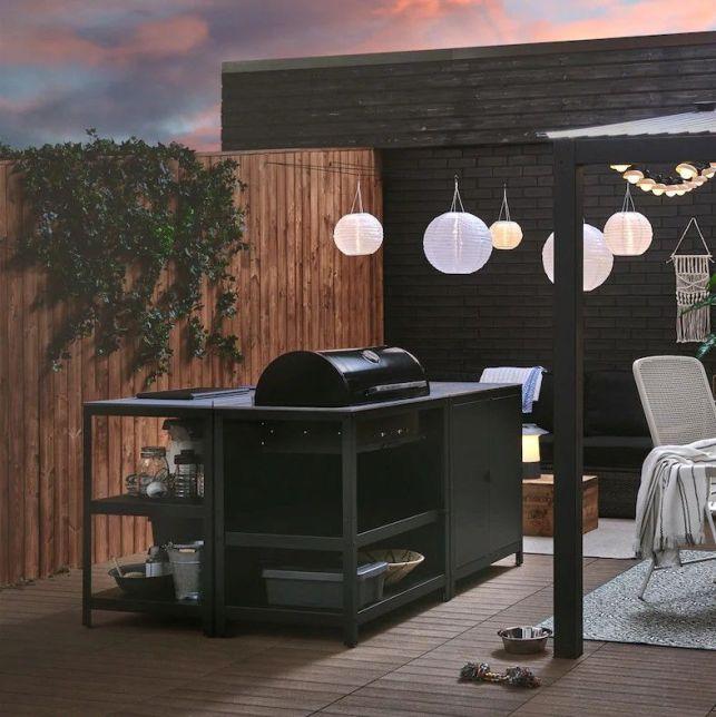 La cuisine extérieure Ikea s'adapte à votre style et votre terrasse