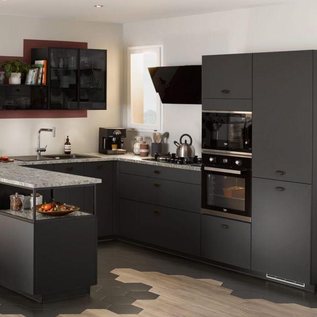 Une cuisine graphique en noir