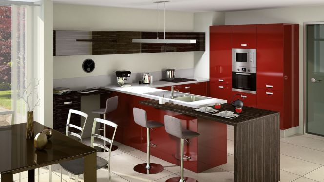notre s lection des plus belles cuisines ouvertes cuisine ouverte light par cuisinella. Black Bedroom Furniture Sets. Home Design Ideas