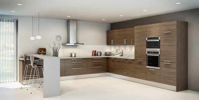 notre s lection de cuisines d 39 exception la cuisine urban revisite les codes classiques du bois. Black Bedroom Furniture Sets. Home Design Ideas
