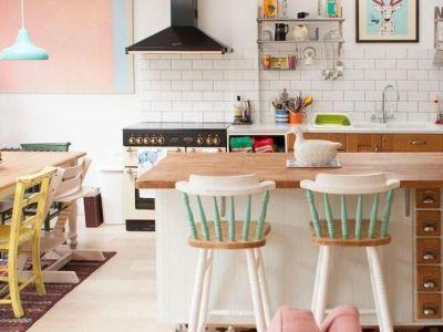 Une cuisine style rétro/vintage