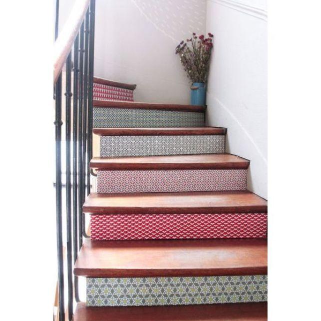 Décorer les contremarches d'un escalier