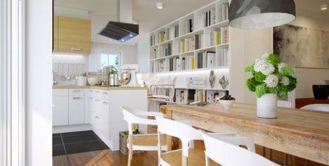 """Délimiter une cuisine ouverte sur le salon<span class=""""normal italic"""">© Christian Hillebrand - Fotolia.com</span>"""