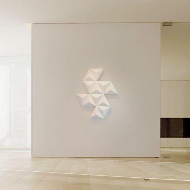 Structurez votre mur avec ce radiateur géométrique