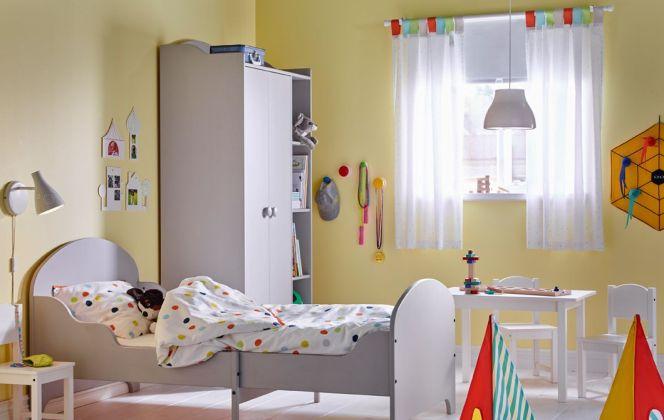Du jaune sur les murs pour la chambre d'une petite fille !  © Ikea