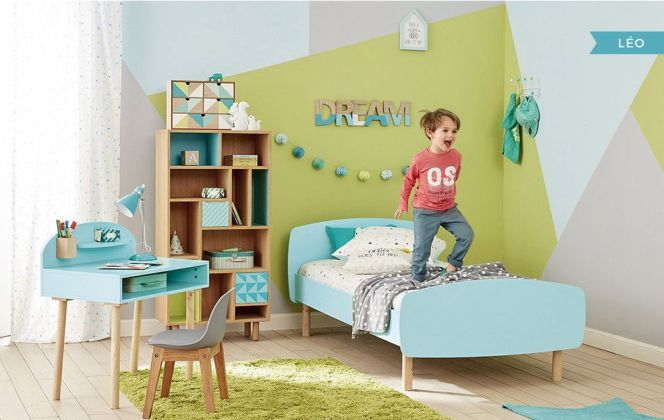 Du vert dans la chambre d'un garçon !  © Maisons du monde