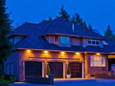 Eclairage d'une façade de maison