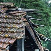 Effondrement d'une toiture
