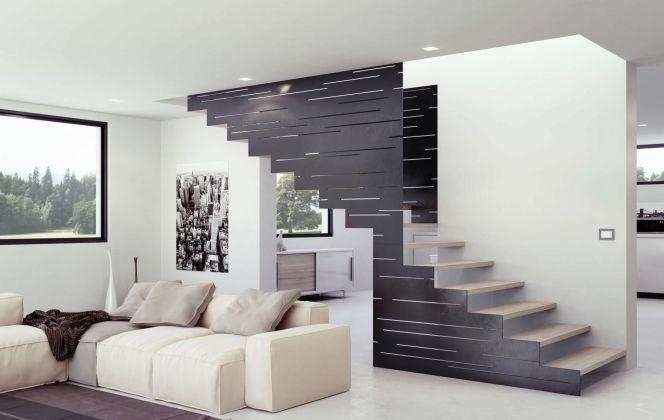 L'escalier 500 s'adaptera parfaitement à votre pièce grâce à son côté très contemporain. © Interbau