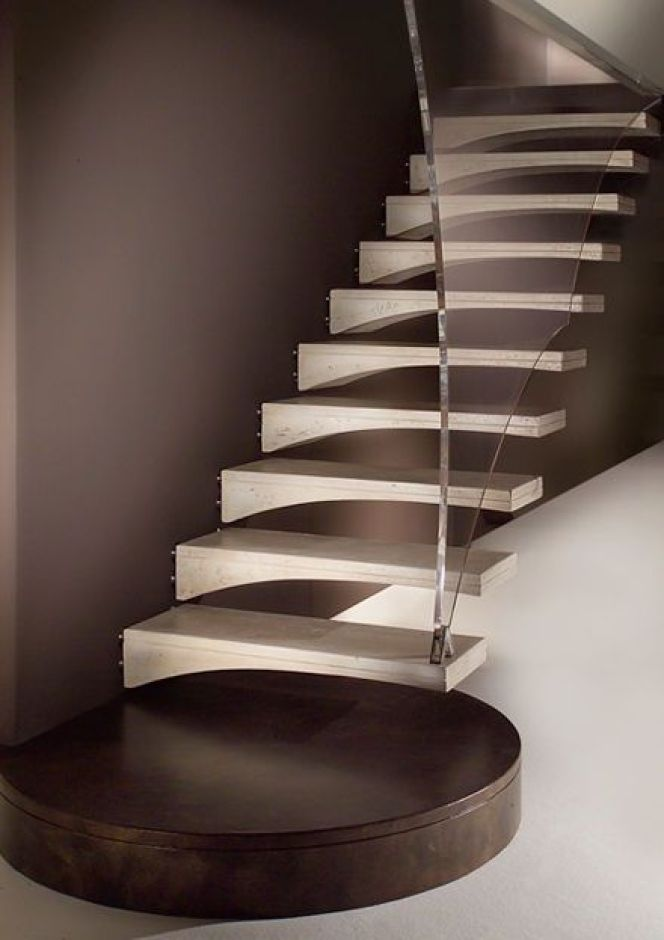 notre s lection d 39 escaliers design l 39 association du bois et du verre de l 39 escalier aile de. Black Bedroom Furniture Sets. Home Design Ideas
