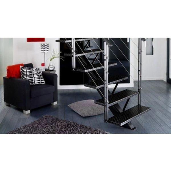 L escalier m tallique un int rieur design et moderne au style industriel - Escaliers lapeyre metal ...