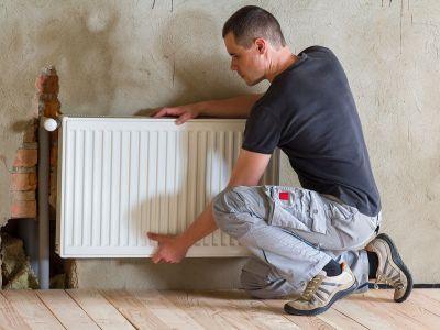 Fixation d'un radiateur