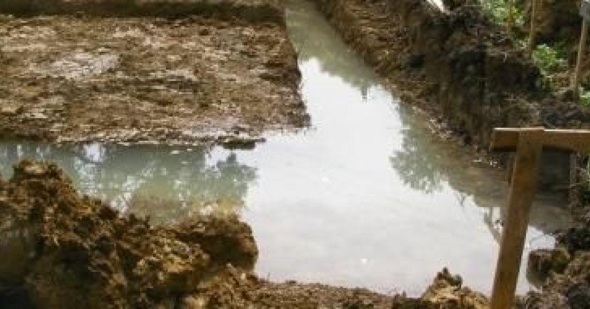 Fouilles remplies d eau que faire for Point d eau dans le jardin