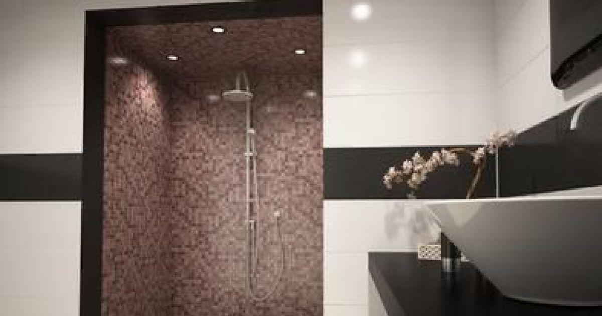 Installer un hammam dans une salle de bain - Douche italienne noir et blanc ...