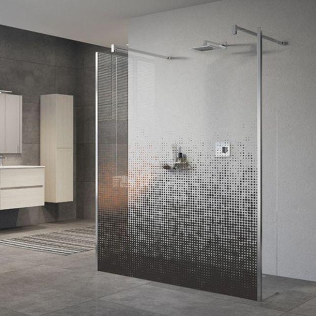 Une paroi de douche pour les amateurs d'art contemporain