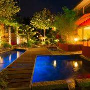 L'éclairage d'une terrasse