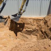 L'excavation du terrain