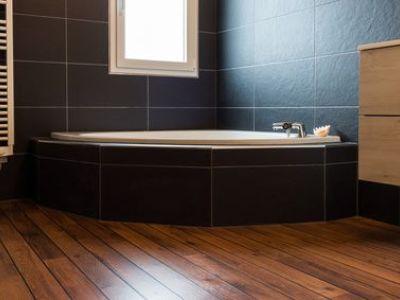 La baignoire d'angle