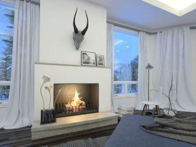 La cheminée à foyer ouvert, décorative, utile et tendance!