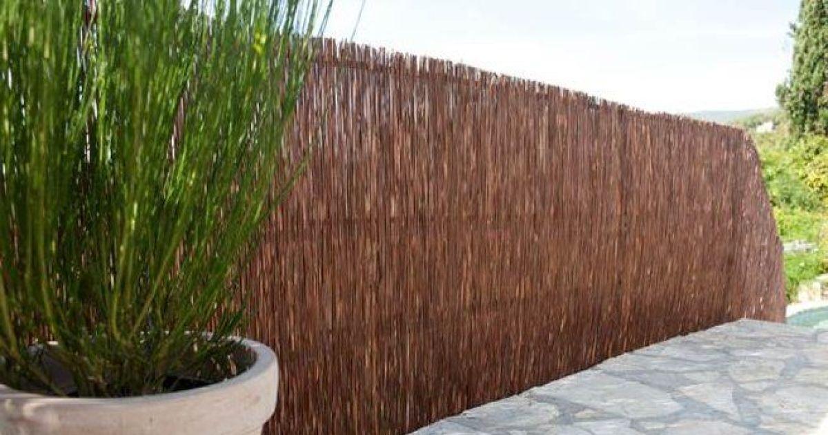 Clot re de jardin les panneaux d osier tress for Cloture naturelle