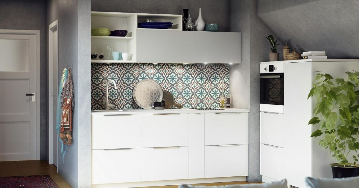 la cuisine avec carreaux de ciment. Black Bedroom Furniture Sets. Home Design Ideas