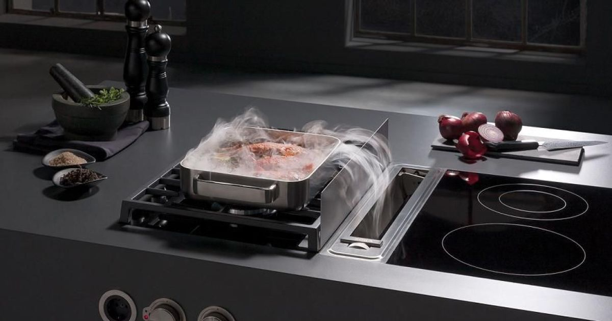 La hotte int gr e la table de cuisson un syst me innovant - Plancha cuisine integree ...