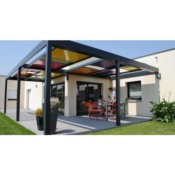 la pergola arlequin par solisysteme un pergola color e et ludique. Black Bedroom Furniture Sets. Home Design Ideas